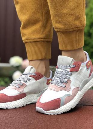 Шикарные женские кроссовки adidas nite jogger белые