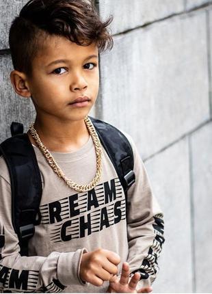 Премиум бренд футболка с длинным рукавом светло-коричневая