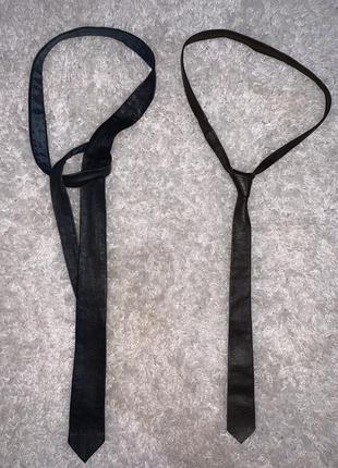 Кожаные узкие галстуки для мальчиков школьников классическая в...