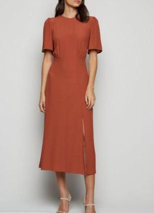 Платье миди с разрезом new look p.m