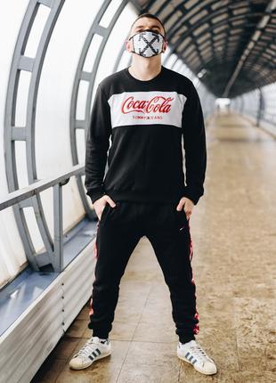 Мужской спортивный костюм Tommy Coca Cola-черный