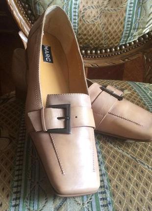 Стильные лоферы,туфли,кожа,marc