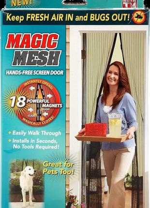Антимоскитная магнитная шторка Magic Mesh&quot, Москитная сетка