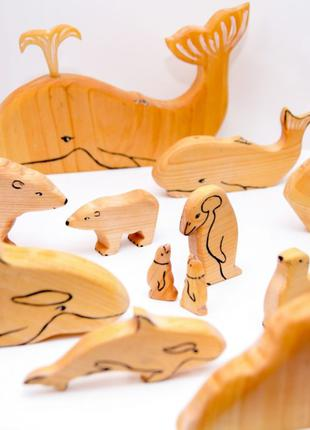 Деревянные фигурки животных ручной работы