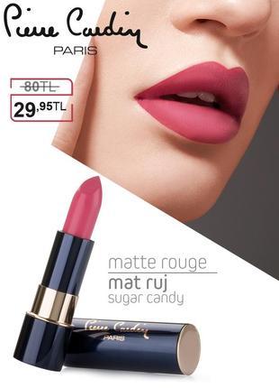 Pierre cardin matte rouge матовая губная помада - сахарная вата