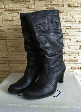 Сапоги зимние кожаные. зима нат. кожа и цигейка размер 39 как ...