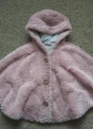 Пончо , куртка - меховушка next размер 104-110 в отличном сост...