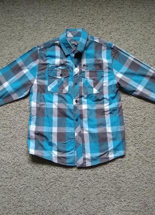 Стильная подростковая рубашка размер 146-152