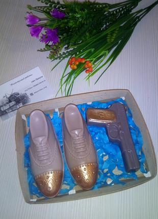 Подарок мужчине / мыло ручной работы / сувенир / мыло ботинки