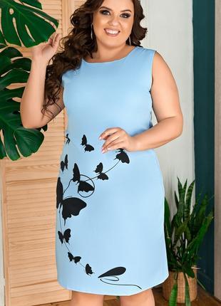 Платье без рукавов, большого размера