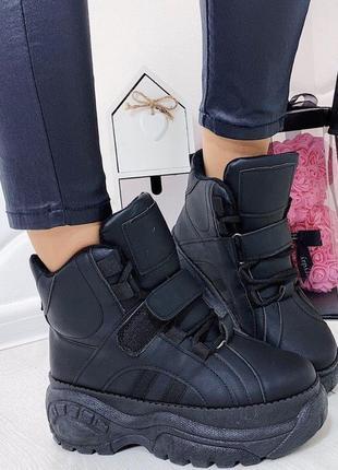 Новые черные женские демисезонные ботинки