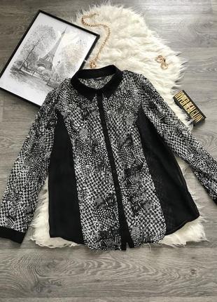 Стильная рубашка в идеальном состоянии с очень красивым принто...