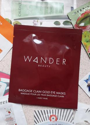 Золотые патчи под глаза wander beauty baggage claim gold eye m...
