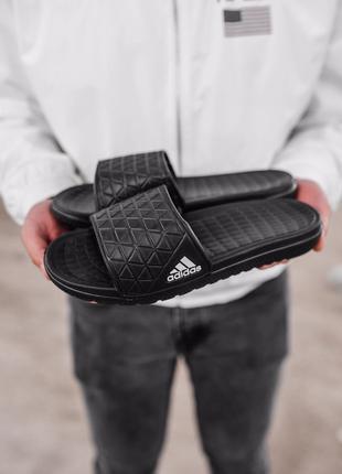 Мужские тапки Adidas Slippers Black   41-45.