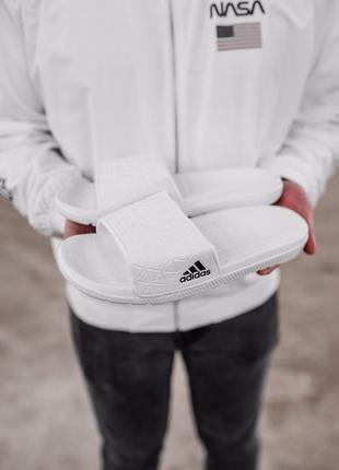 Мужские тапки Adidas Slippers White | 41-45.