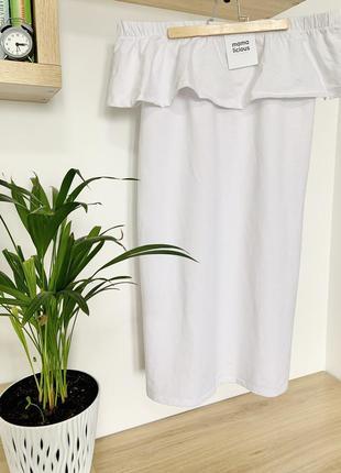 Sale белое хлопковое летнее платье для беременных открытые пле...