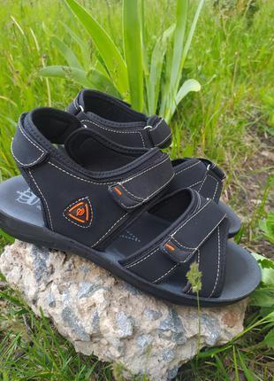 Женские спортивные босоножки сандалии черные