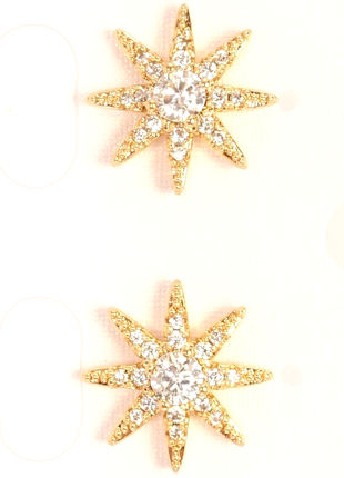 """Серьги позолота 18к гвоздики """"звезды """" от xuping"""