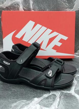 Мужские сандали nike sandals acg черные,кожаные,босоножки