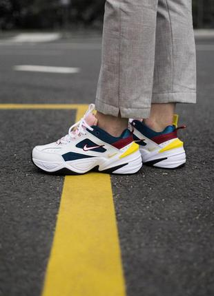 Nike m2k tekno white/blue/pink женские стильные кроссовки