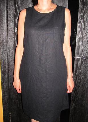 Льняное платье  m&s р.18 маломер