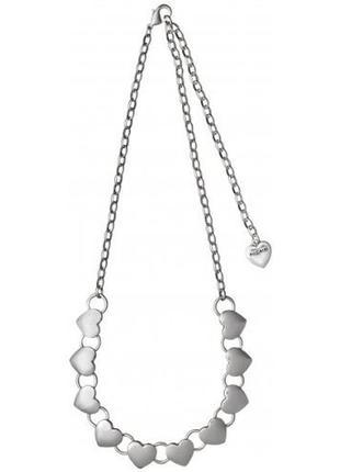 Ожерелье посеребренное сердечки pilgrim дания элитная ювелирна...