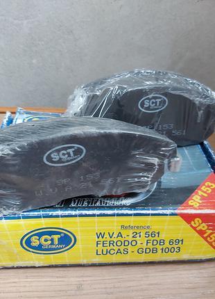 Колодки тормозные передние SCT GERMANY SP 153. Nissan 200,SX,Zx,M
