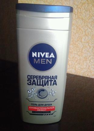 """Гель для душа NIVEA MEN """"серебрянная защита"""", 250 мл"""