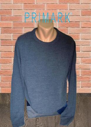 🍁🍁primark стильный мужской свитер под джинс меланж l🍁🍁🍁