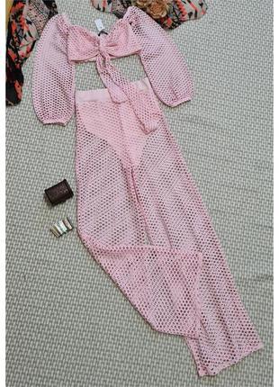 Комплект летний/сетка stylewise/комплект брюки + топ/костюм дв...