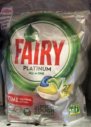 Капсулы для посудомоечной машины Fairy Platinum All in One