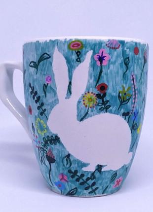 Чашка, кружка ручной работы, кружка с цветами, кружка на подарок