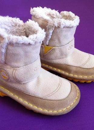 Демисезонные ботинки crocs размер с9 25-26 по стельке 16 см ор...