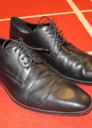 Мегаклассные туфли кожа с перфорацией