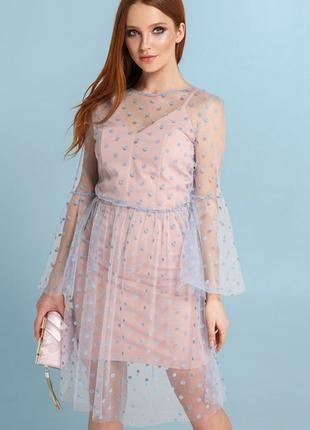 Святкова новорічна сукня плаття gepur 2 в 1