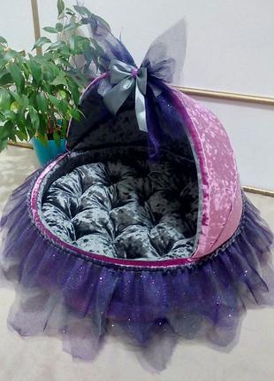 Домик люлька лежанка лежак для собак собаки кошек йорка собачек