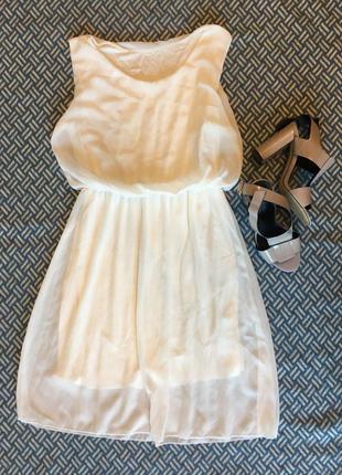 Сукня біла шифонова