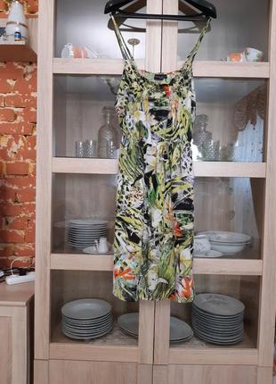 Очень классное натуральное платье сарафан большого размера