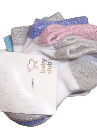 Носочки для девочки набор 5 пар носки хлопок бренд c&a германи...