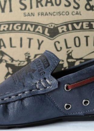 Levis мокасины! Натуральная кожа туфли удобнейшие туфли Levi Stra