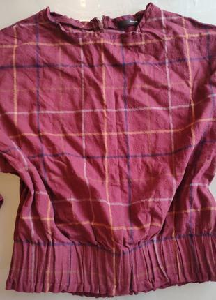 Кофта на резинке с рукавом 3/4, цвет темное бордо
