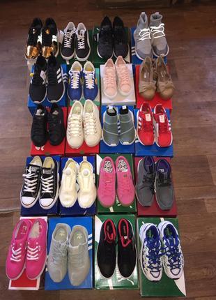Спортивная обувь лотами Adidas, Puma 20 ед в лоте, 21 евро/ед.