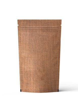 Пакет Дой-Пак мешковина крафт  130*190 дно (40+40)