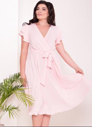 Нежное , воздушное летнее платье, цвет - розовый светлый, разм...