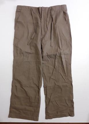 Фирменные полульняные брюки штаны l