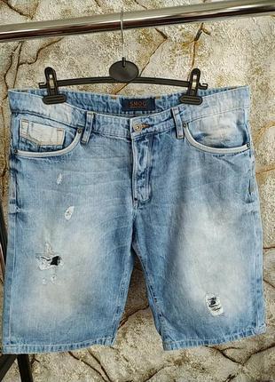 Рвание джинсовие шорти с дирками smog большого размера