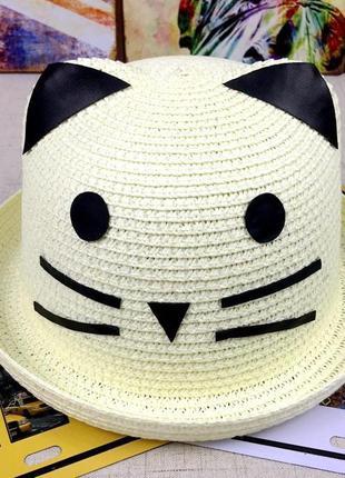 Красивая детская шляпа кошечка 13182