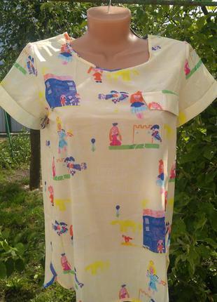 Легкая блуза летняя с принтом