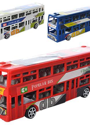 Автобус инерционный 2-х этажный