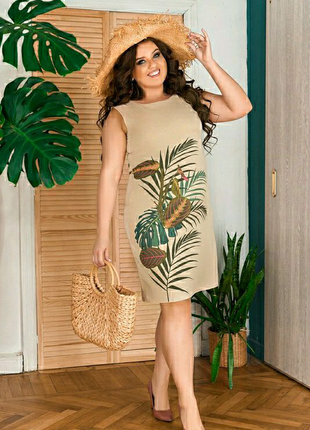 Сукня тропіки літо 48-54рр Платье лето